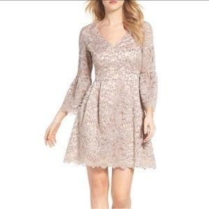 Eliza J Plus Lace Bell Sleeve Dress Size 18W